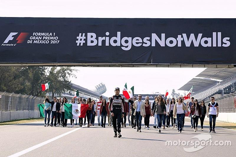 Pérez apoia campanha do GP do México contra muro de Trump