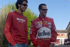 Шумахер був вражений тестами Россі на Ferrari