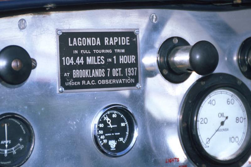 Inside the cockpit of Lagonda #27