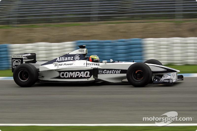 Ralf Schumacher testing the Williams FW22b