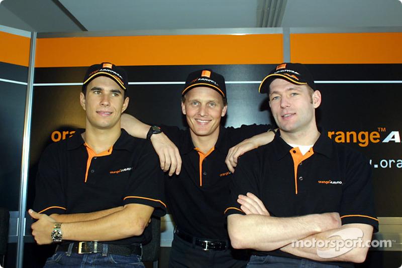 Enrique Bernoldi, Johnny Herbert y Jos Verstappen
