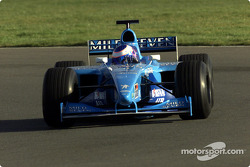 Jenson Button probando el B201