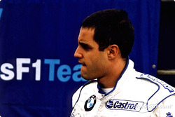 Juan Pablo Montoya in the pits