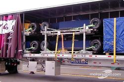 Formula 1 in semi trailers