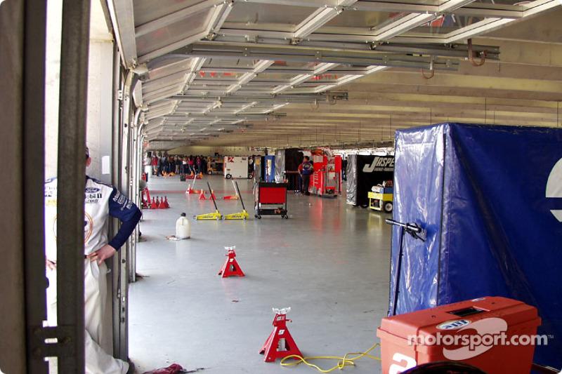 The garage is empty