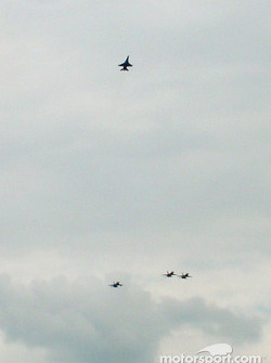 The Delaware National Guard fly in the missing man