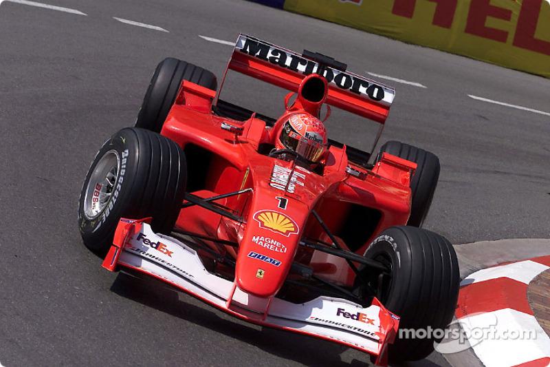 2001: Ganador de la carrera Michael Schumacher (Ferrari F2001)