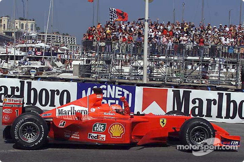 Michael Schumacher in the cool down lap