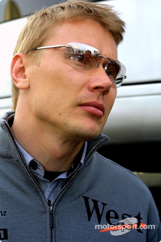Mika Hakkinen, after the race