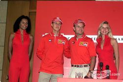 Marlboro Press Conference: Rubens Barrichello and Michael Schumacher