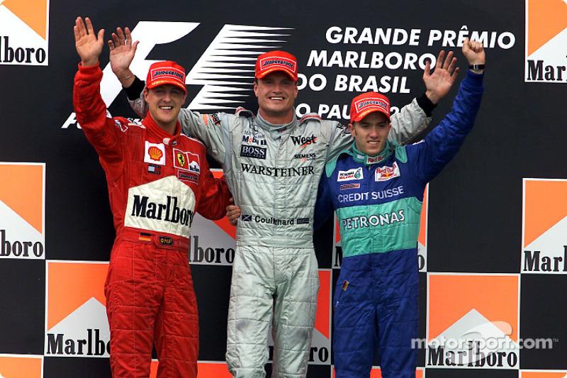 2001 : 1. David Coulthard, 2. Michael Schumacher, 3. Nick Heidfeld