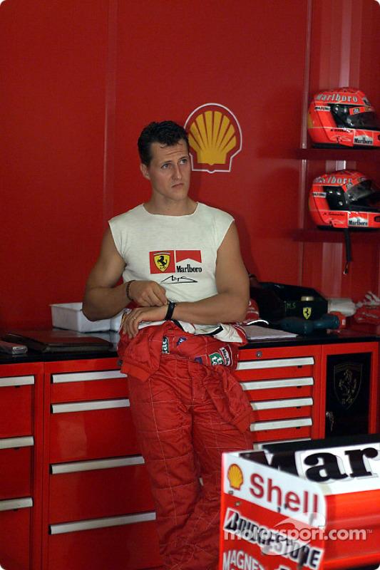 The muscle man: Michael Schumacher