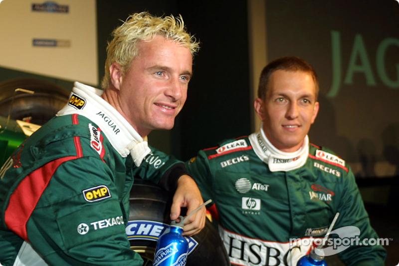 Eddie Irvine et Luciano Burti