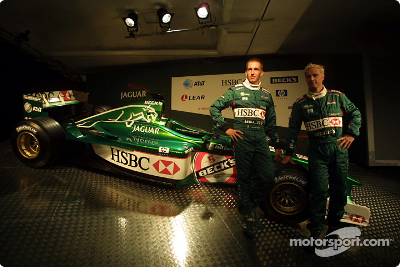 Luciano Burti and Eddie Irvine