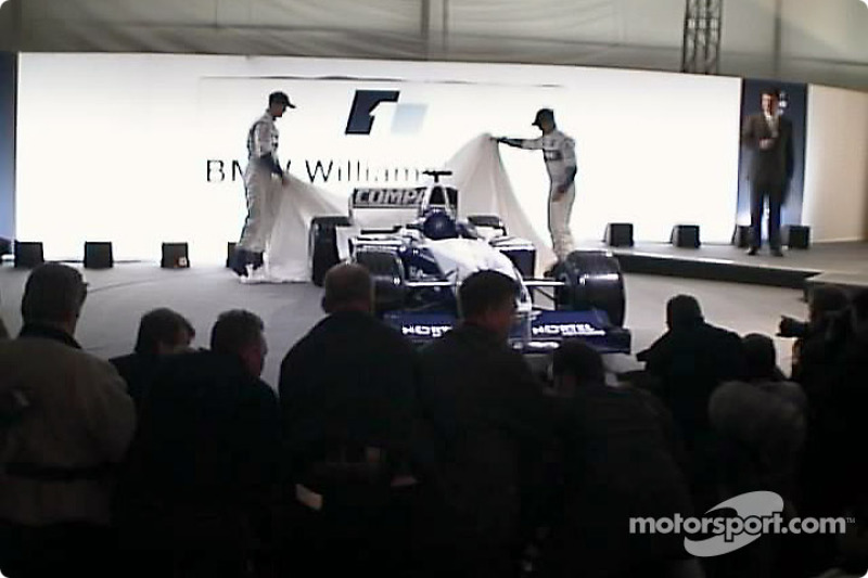 Ralf Schumacher and Juan Pablo Montoya unveiling the FW25
