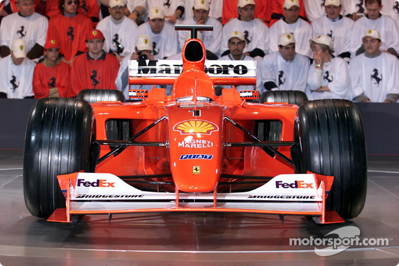 A new nose for the Ferrari F2001