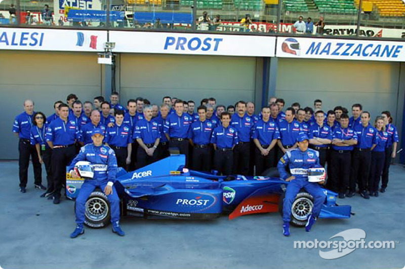 The Prost Grand Prix team with the AP04