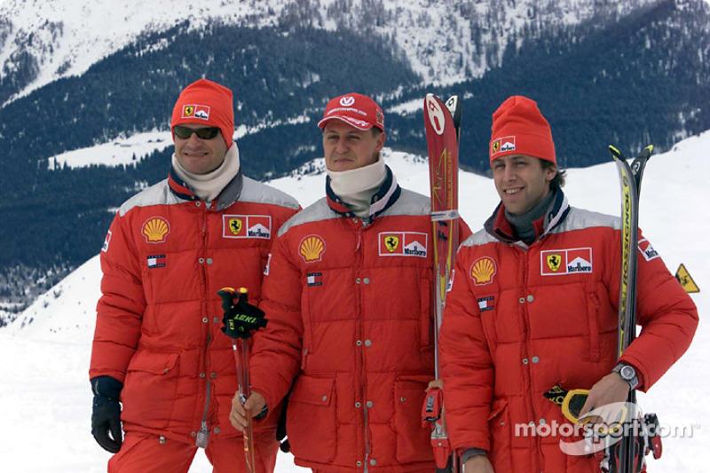 Rubens Barrichello, Michael Schumacher ve Luca Badoer