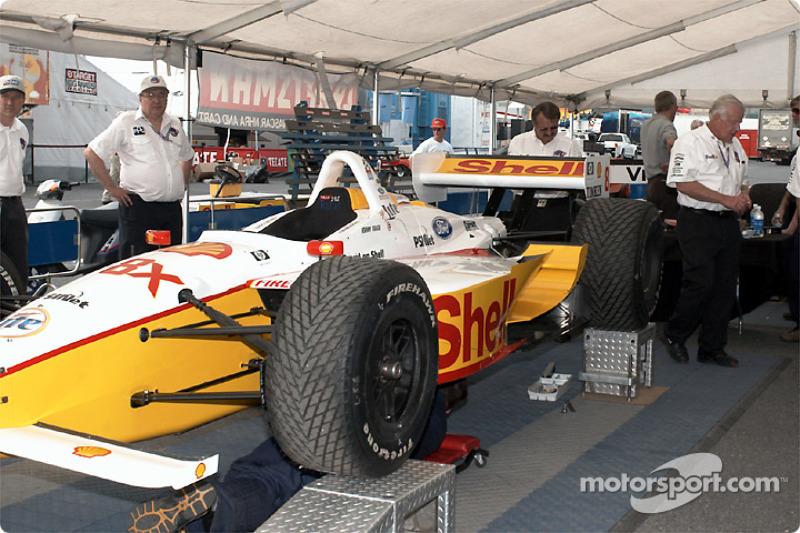 Brack's car in technical inspection