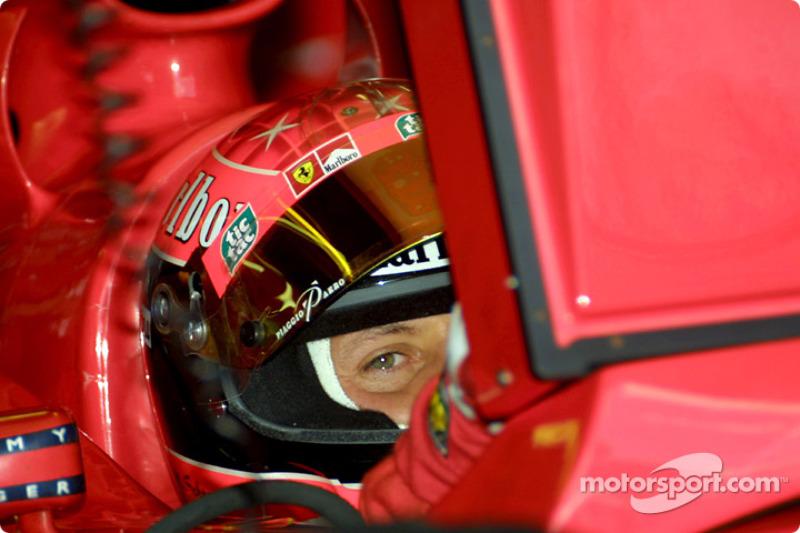 Michael Schumacher, having a look at the photographer