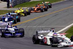 Warmup lap: Jacques Villeneuve ve Juan Pablo Montoya