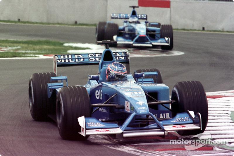 Jenson Button y Giancarlo Fisichella en el GP de Canadá