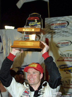 Buddy Lazier and his trophy