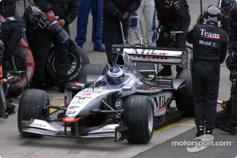 Pitstop for Mika Hakkinen