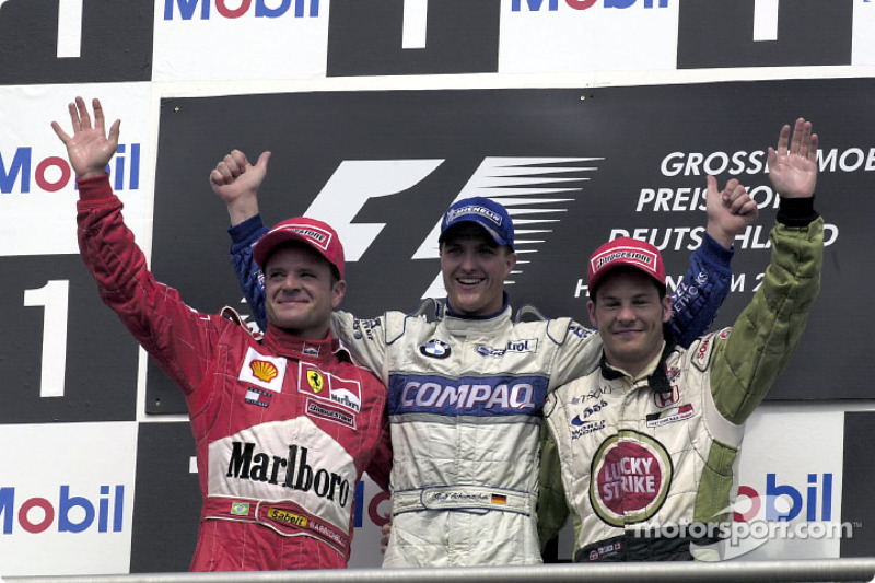 2001: 1. Ralf Schumacher, Rubens Barrichello, 2., 3. Jacques Villeneuve