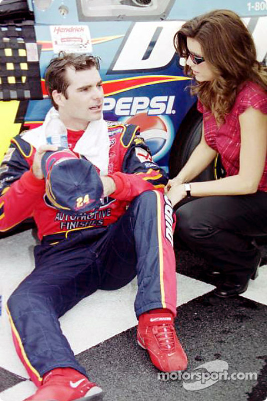 Jeff Gordon and his wife