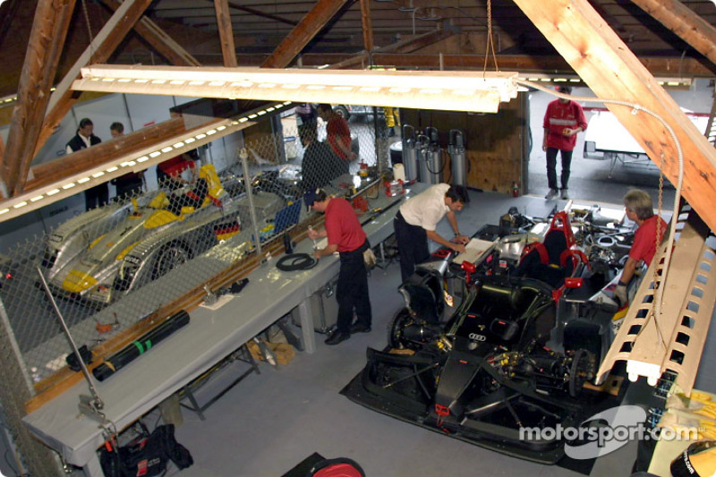 Team Audi at work