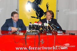 Press conference at the Fiorano track: Jean Todt and Luca di Montezemelo