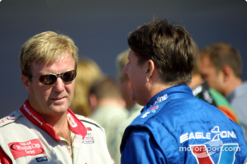 Sterling Marlin and Johnny Benson