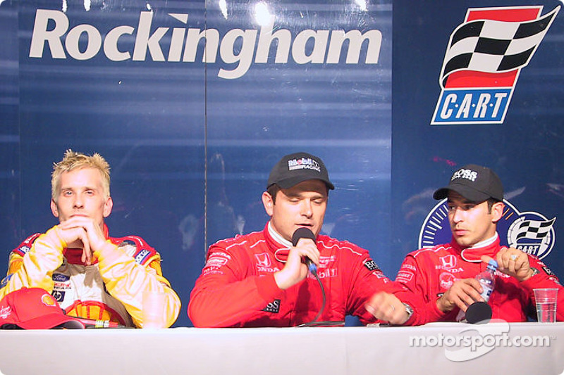 Press conference: Kenny Brack, Gil de Ferran and Helio Castroneves
