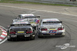 Close race action: Uwe Alzen and Bernd Schneider