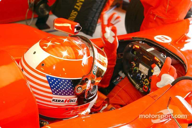 A special helmet for Michael Schumacher