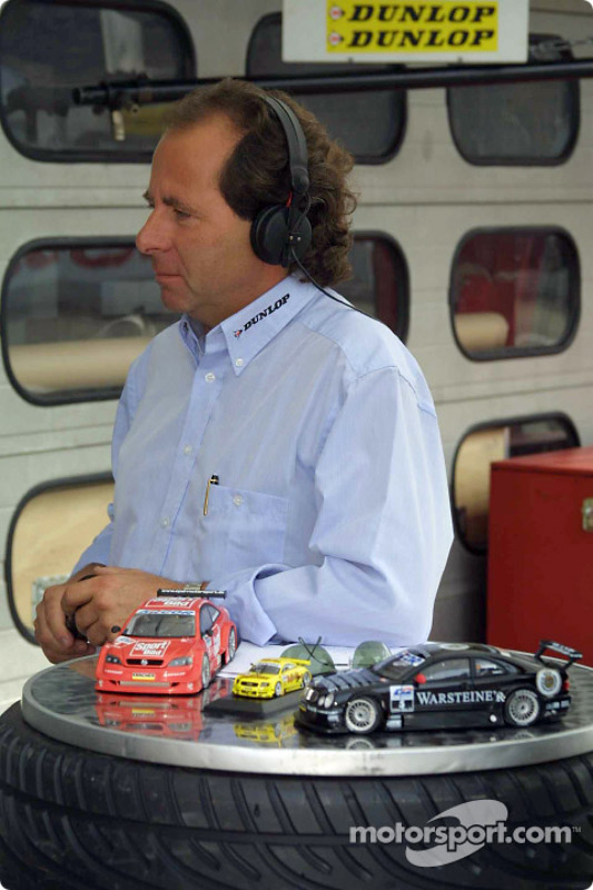 Legendary race car driver Klaus Ludwig, now commentator for the German TV