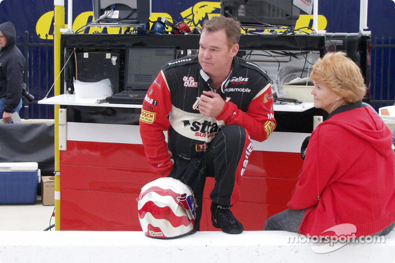 Al Jr. and mom in the pits