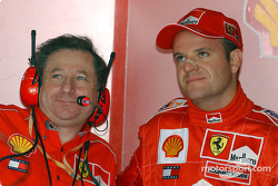 Jean Todt and Rubens Barrichello