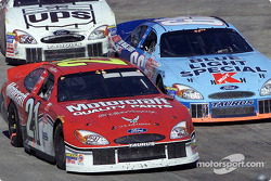 Elliott Sadler, Todd Bodine and Dale Jarrett