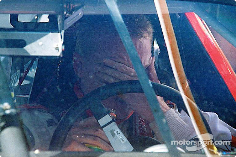 An emotional Ricky Craven