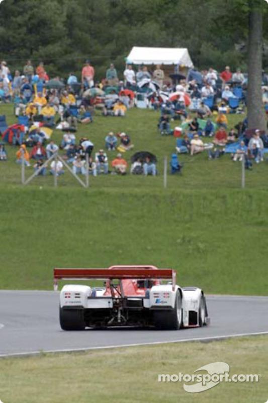 Fans at Lime Rock Park watch the Doran Lista Racing Judd Ferrari