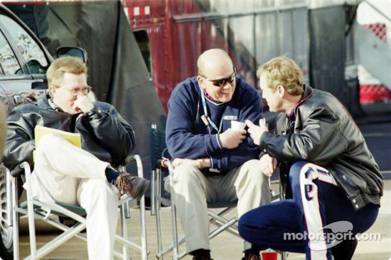 Rusty Wallace discussing with guests