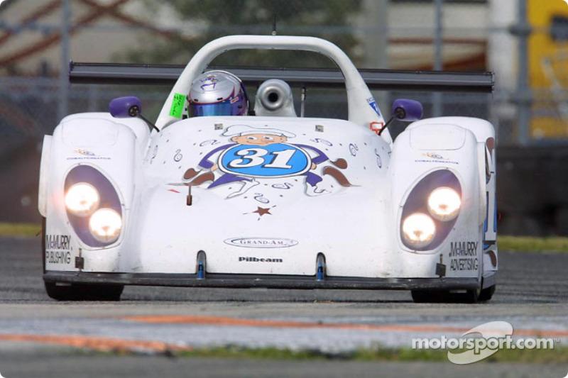 #31 Nissan Pilbeam of Team Bucknam powers through the turn at Daytona