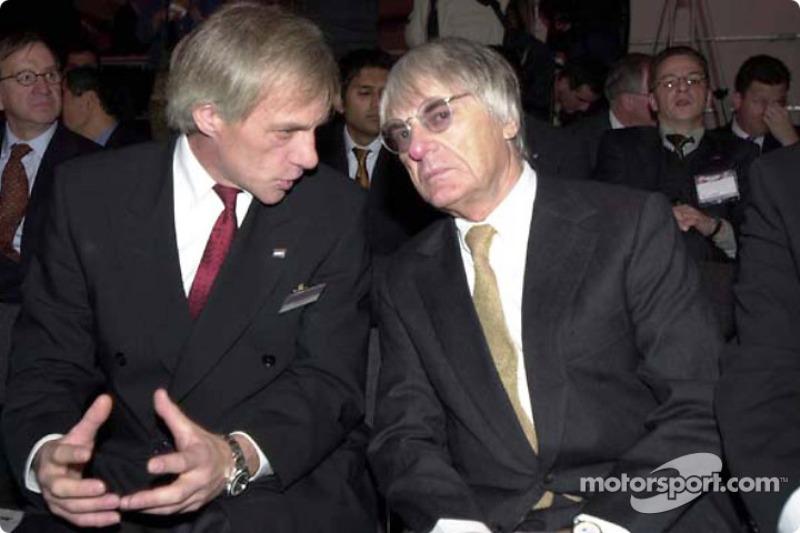 Gustav Brunner and Bernie Ecclestone