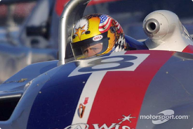 The SRPII Rand Racing Nissan Lola at speed duirng Grand-Am testing at Daytona