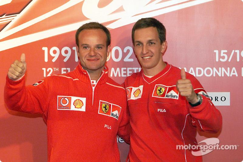 Rubens Barrichello et Luciano Burti