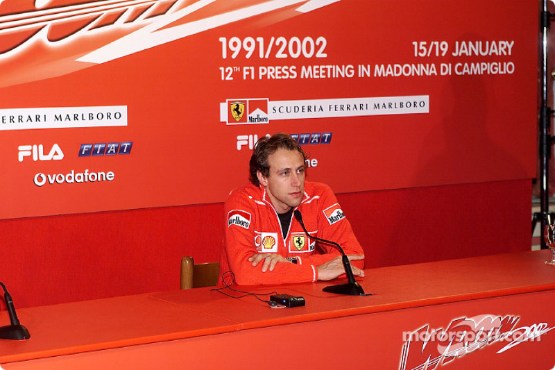 Press conference with Luca Badoer