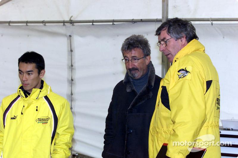Takuma Sato, Eddie Jordan and Gary Anderson