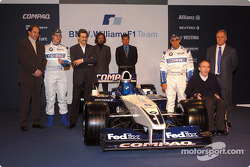 Gerhard Berger, Ralf Schumacher, Dr. Mario Theissen, Gavin Fisher, Sam Michael, Juan Pablo Montoya, Frank Williams and Patrick Head